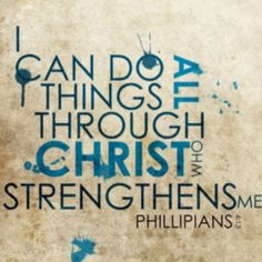 Strengthened through Christ