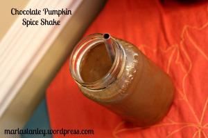 choco pumpkin spice shake blog