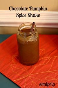 choco pumpkin spice shake